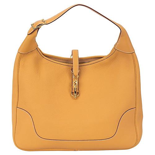 Hermès 38cm Sable Trim Shoulder Bag