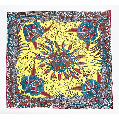 Hermes Flowers of South Africa Scarf