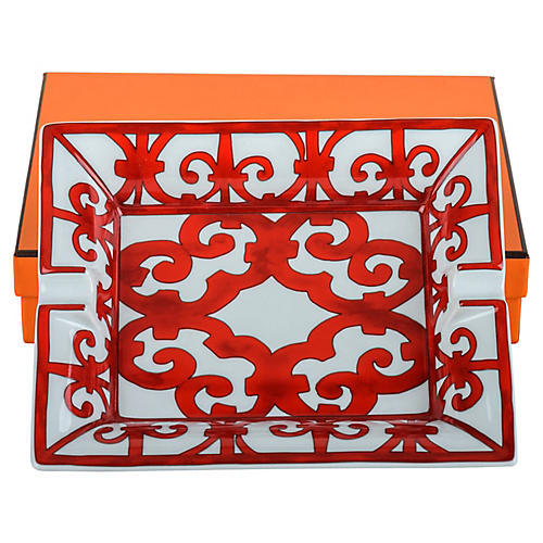 Hermès Red Balcon Ashtray