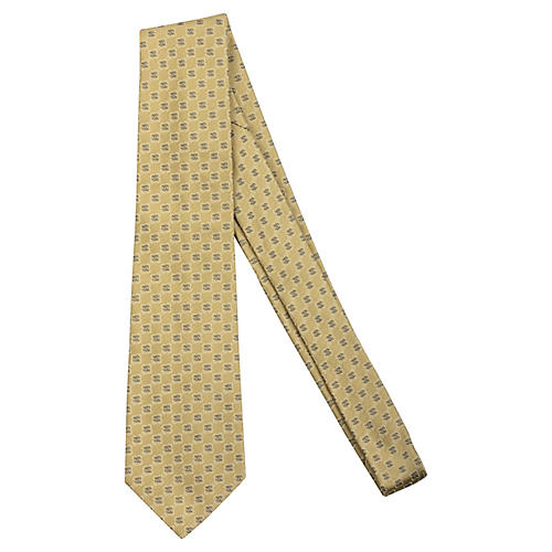 Chanel Yellow Silk Tie
