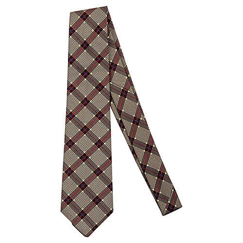 Chanel Silk Plaid Tie
