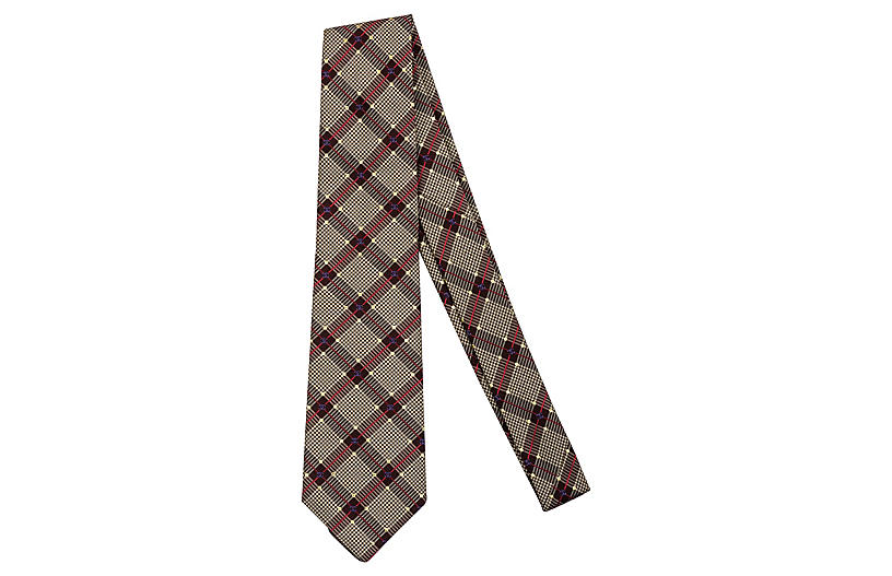 Chanel Silk Plaid Tie