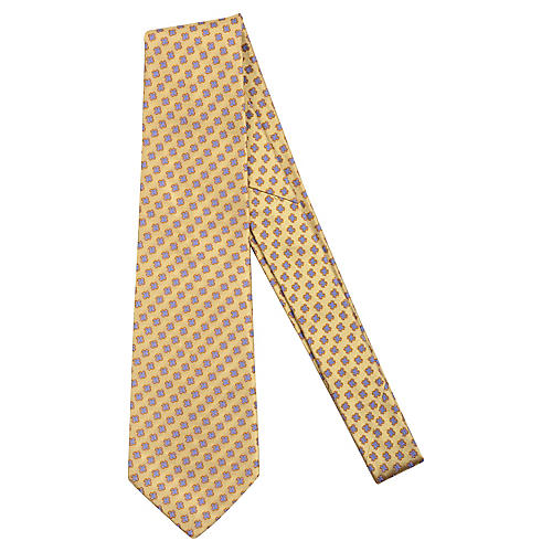 Chanel Yellow Floral Print Tie