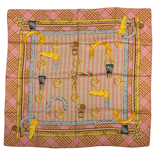 Trussardi Silk Print Scarf