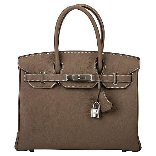 Hermès Etoupe Togo 30cm Birkin