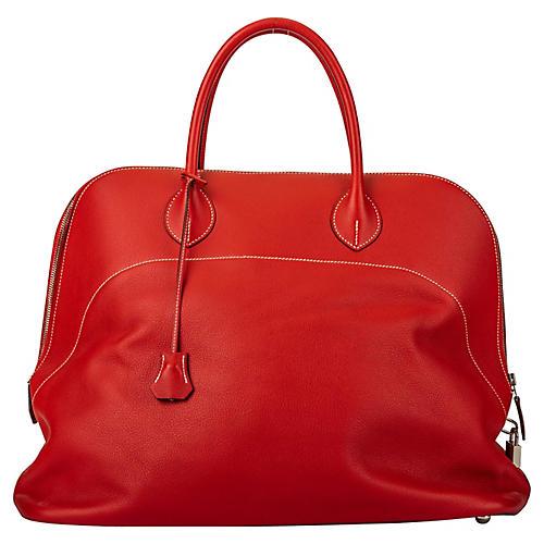 Hermès Red Sikkim 45cm Bolide Voyager