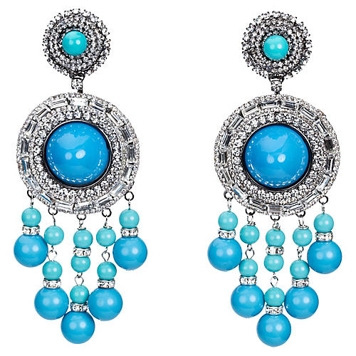 Vrba Silver Turquoise Drop Earrings