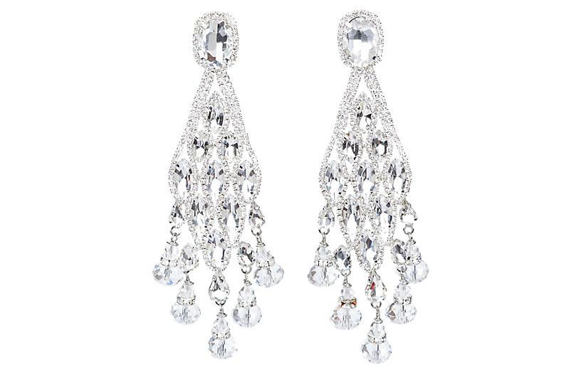 Vrba Rhinestone Drop Earrings