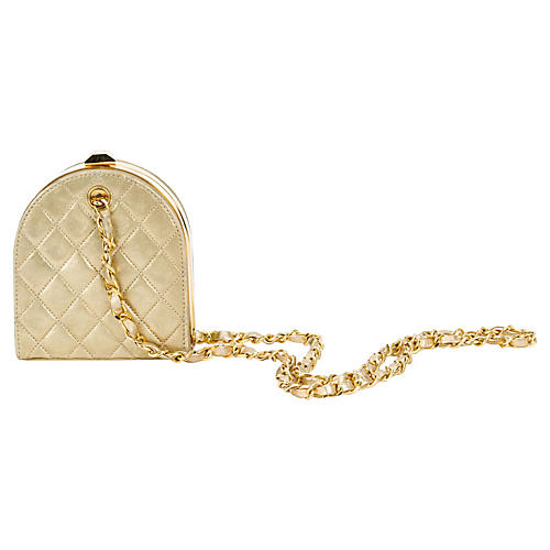 Chanel Gold Evening Bag