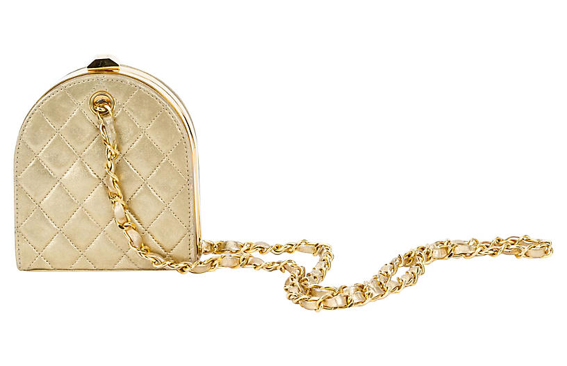 Chanel Gold Evening Bag