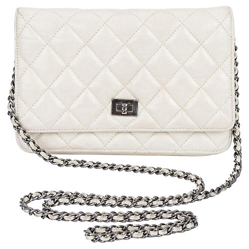 3ef3f14365c4 Chanel Reissue Off-White Cross-Body Bag. VINTAGEVintage Lux