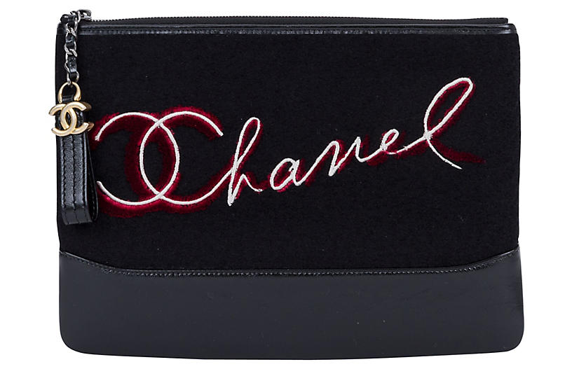 Chanel Black Paris Salzburg Clutch