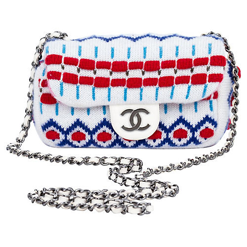 Chanel Mini White Aspen Cross-Body Bag