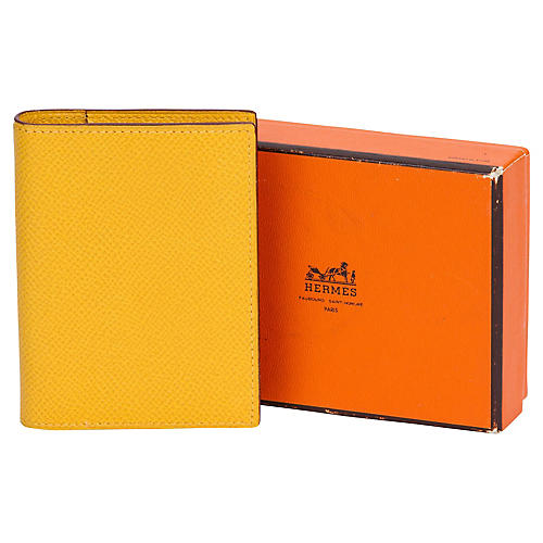 Hermès Jaune d'Or Notebook Cover