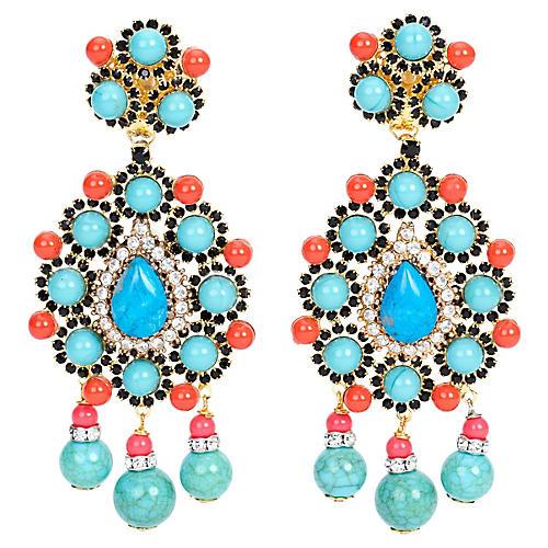 Vrba Faux-Turquoise Earrings