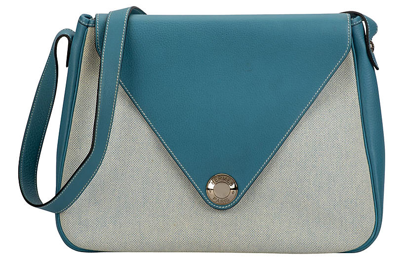Hermès Blue Jean Toile Bag