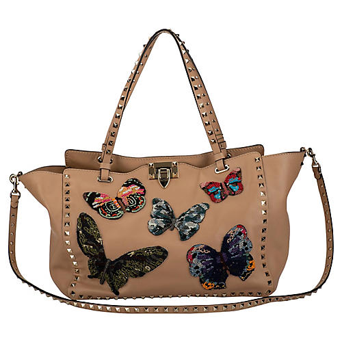 Valentino Lim.Ed. Butterfly Rockstud Bag