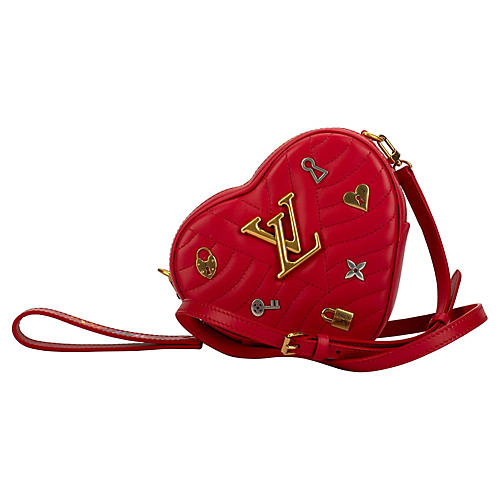 Louis Vuitton Red Heart Charm Handbag