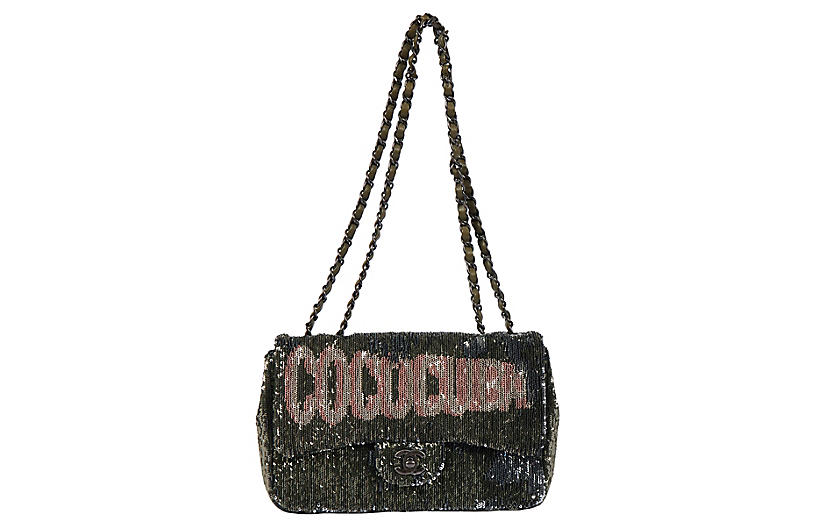 Chanel Coco Cuba Green Flap Bag