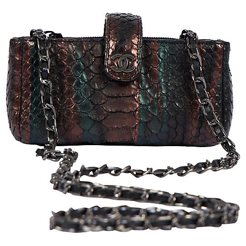 Chanel Iridescent Python Mini Cross-Body
