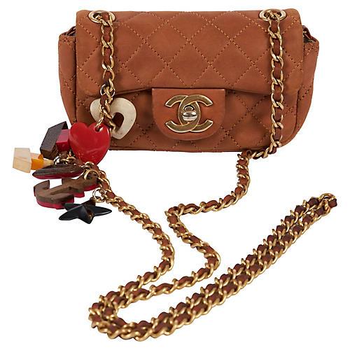 Chanel Lim. Ed. Camel Charm Mini Bag
