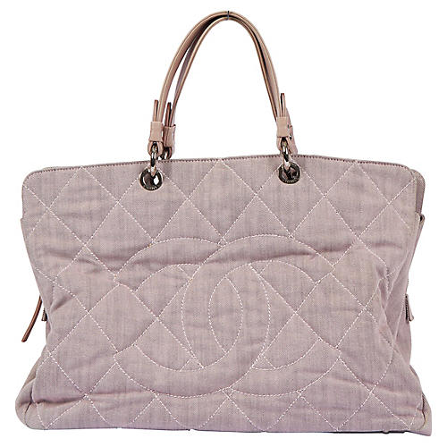 Chanel Oversize Pink Cotton Summer Tote