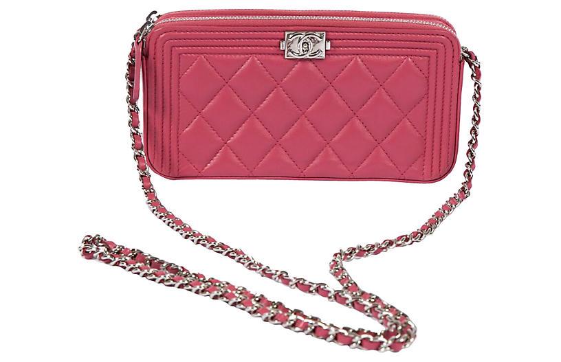 Chanel Pink Double-Pocket Cross-Body WOC