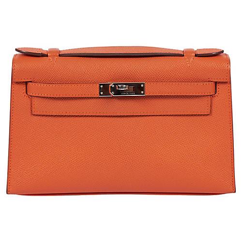 Hermès Orange Epsom Kelly Pochette