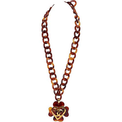 Chanel Faux-Tortoise Necklace