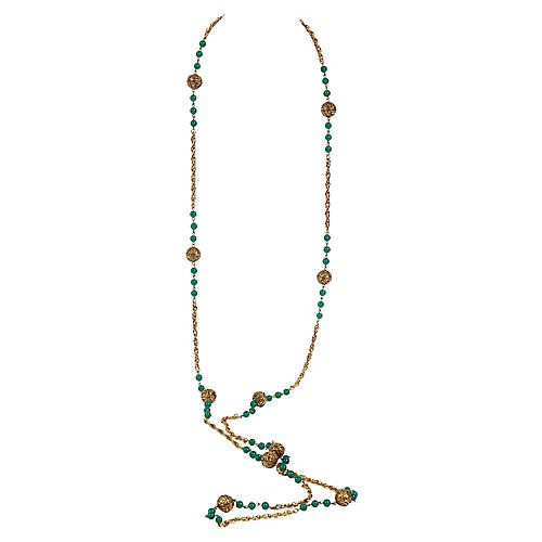 Chanel Green Gripoix Sautoir Necklace