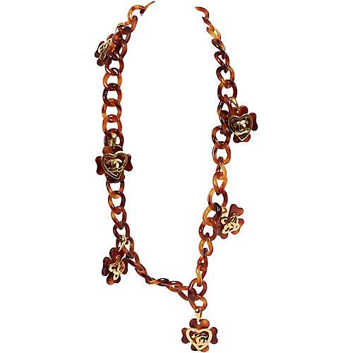 Chanel Faux-Tortoise Belt/Necklace
