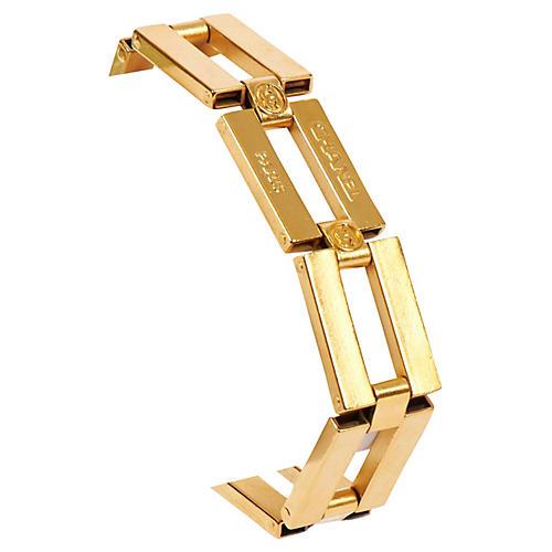 Chanel Gold Square Link Bracelet
