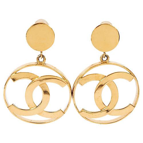 Chanel Oversize Logo Earrings