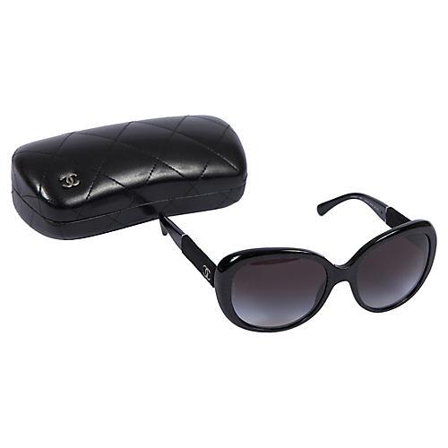 Chanel BNIB Velvet Oversize Sunglasses