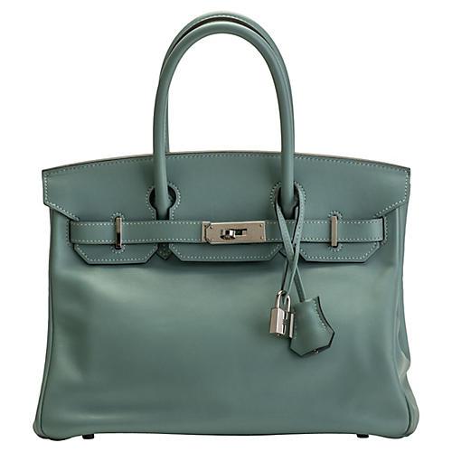 Hermès Blue Ciel Swift 30cm Birkin