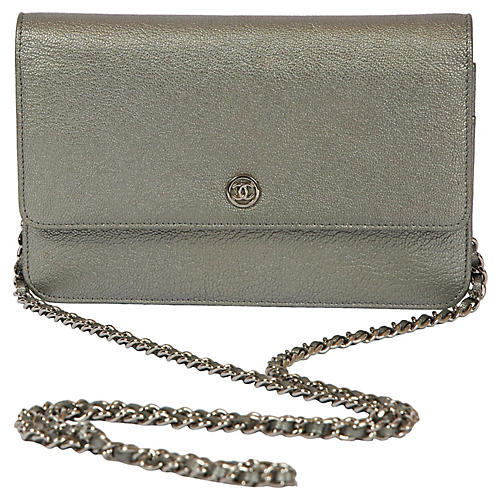 Chanel Platinum Sevruga Crossbody Bag