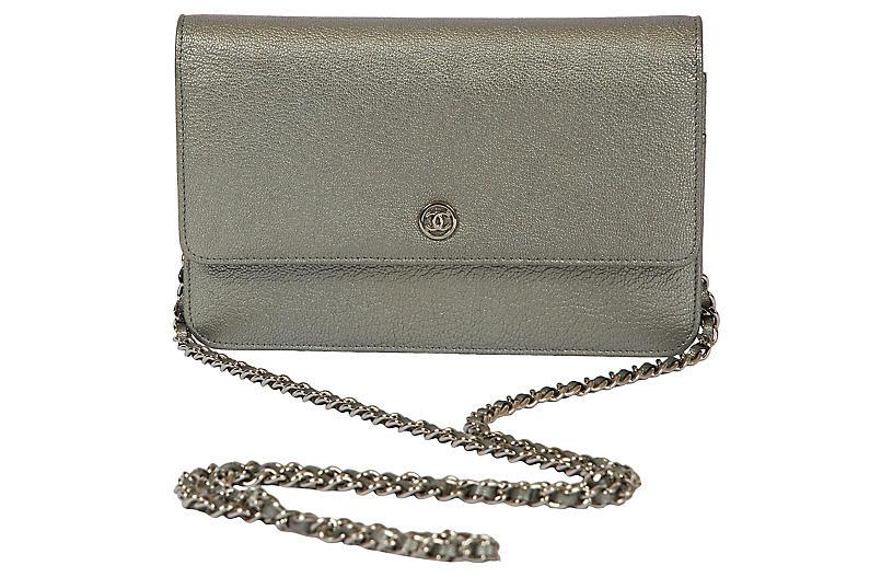 Chanel Platinum Sevruga Crossbody Bag