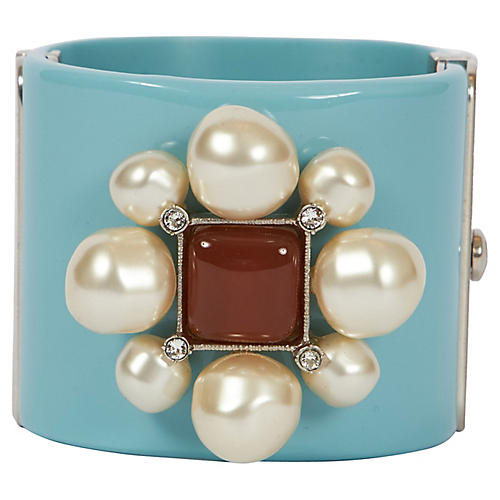 Chanel Celeste Pearls & Gripoix Cuff