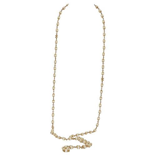 Chanel Faux-Pearl Sautoir Necklace