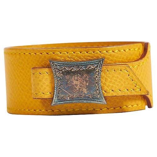 Hermès Jaune d'Or Epsom Tuareg Bracelet