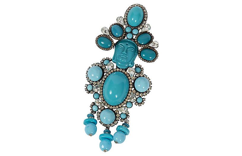 Vrba Turquoise Maharaja Pin