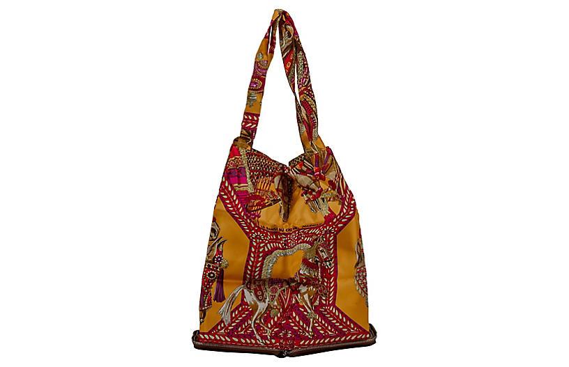 Hermès Noisette Danse de Cheval Pop Bag