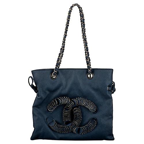 Chanel Coated Denim Shopper