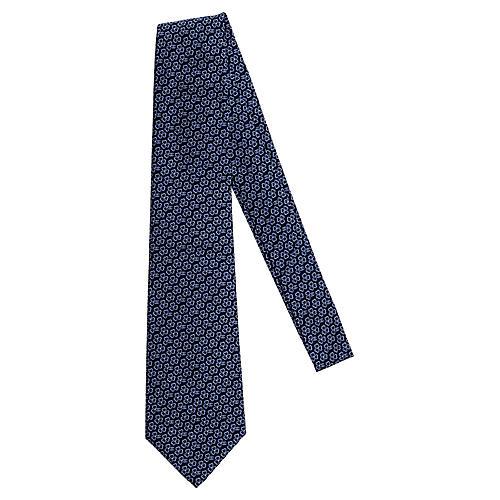 Chanel New Blue Flower Silk Tie