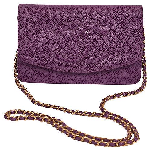 Chanel Purple Caviar Cross-Body WOC