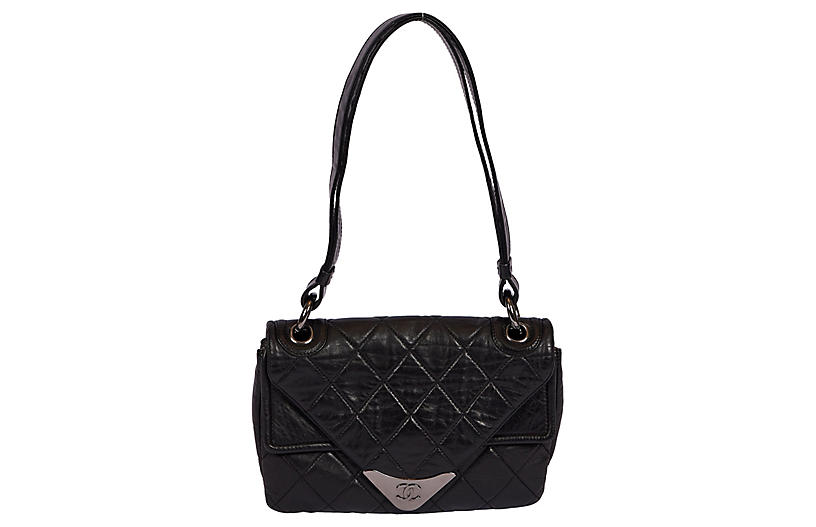 Chanel Black Envelope Shoulder Bag