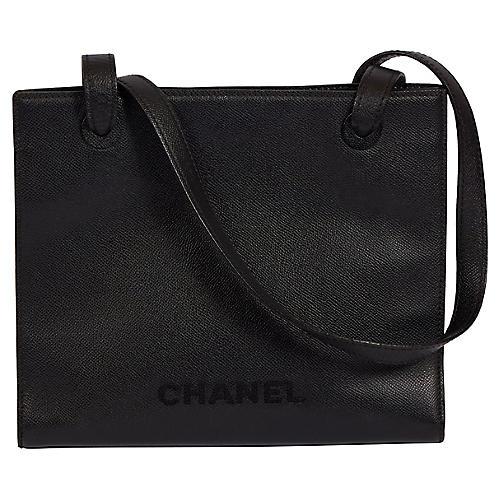 Chanel Black Caviar Trapeze Shoulder Bag
