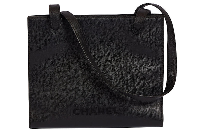 Chanel Black Caviar Trapeze Shoulder Bag
