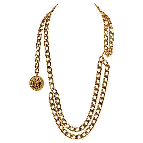 Chanel Gold Double Belt Necklace/Belt
