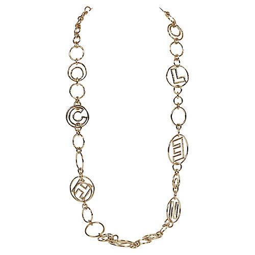 Chanel Oversized Silver Necklace /Belt